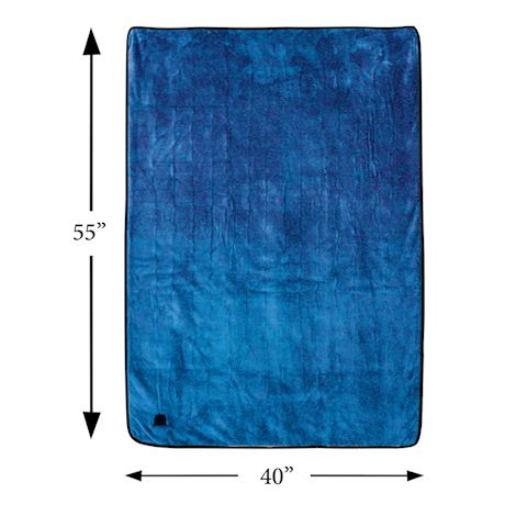 """Great Working Tools Heated Electric Car Blanket, Gray - 3 Heat Settings, Auto Shutoff, Washable, 55"""" X 40"""", Long 8' Cord Plugs into Car's 12v Outlet, Blue"""