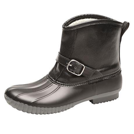 "Avanti Womens Samba Rain Boots - Sherpa Lined Duck Boot, 1/2"" Heel Rainboot"