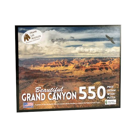 Education Outdoors Grand Canyon Jigsaw Puzzle - 550 Piece National Park Photo Puzzle - Family Fun Activity