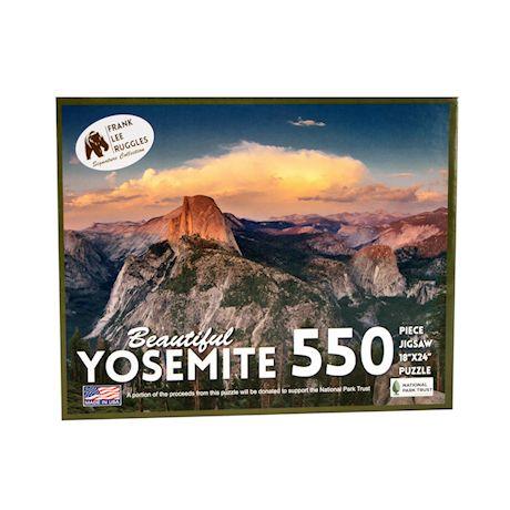 Education Outdoors Yosemite Jigsaw Puzzle - 550 Piece National Park Photo Puzzle - Family Fun Activity