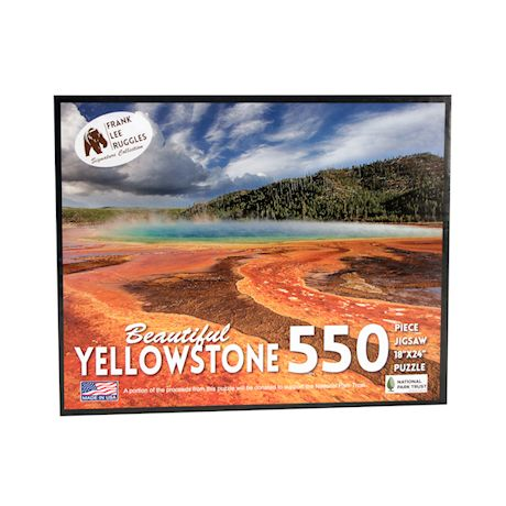Education Outdoors Yellowstone Jigsaw Puzzle - 550 Piece National Park Photo Puzzle - Family Fun Activity