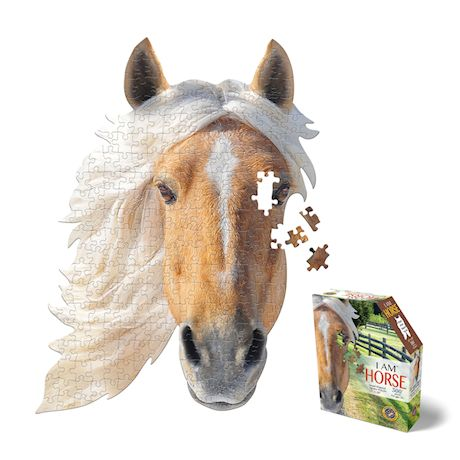 Madd Capp I Am Horse Jigsaw Puzzle - 300 Piece Animal Head Puzzle - Educational Family Fun