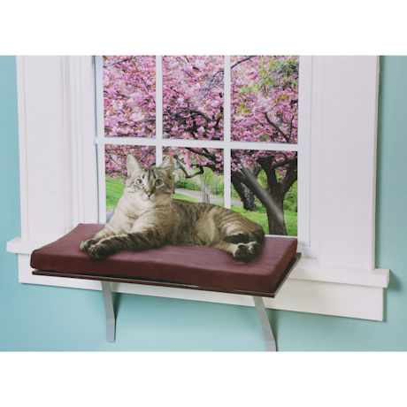 Etna Window Mount Cat Perch - Foam Padded Metal Cat Bed Ledge, Holds 20-35 Lbs.