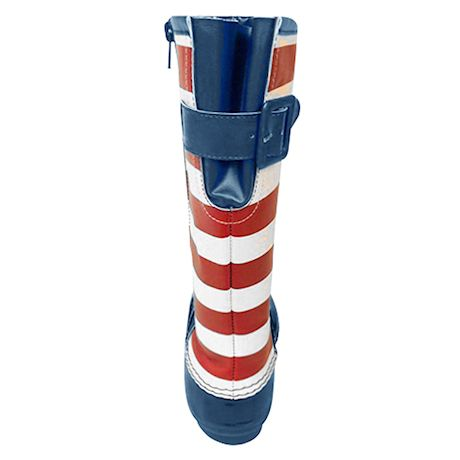 Avanti Women's Americana Rain Boots -U.S. Flag Print Rubber Knee High Duck Boots