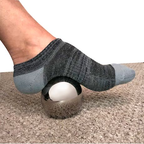 Support Plus Cooling Massager Ball - 6 Hour Cold Relief Cryotherapy Muscle Roller Sphere, Myofascial Release, Pain Relief Ice Pack with Storage Bag