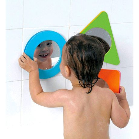 EDUSHAPE Water Magic Cube & Magic Mirror Shapes Bath Tub Toy Play Set for Children, Water Toy Set