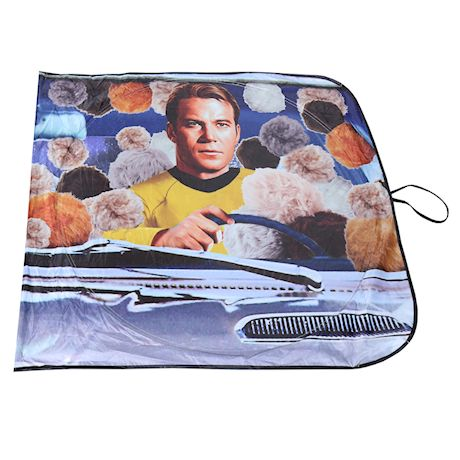 Surreal Star Trek Tribble Sunshade - The Original Series Kirk and Spock Funny Car Windshield Sun Shade Screen