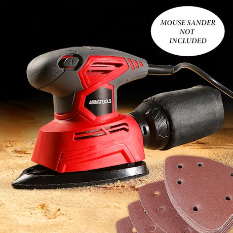 Great Working Tools Sandpaper for GWT Mouse Sander Detail Orbital Sander, 60 pcs