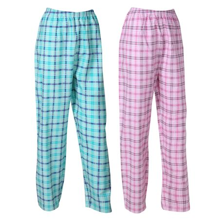 Metropolitan Womens Flannel Lounge Pants -2 Pack Pajama Bottoms