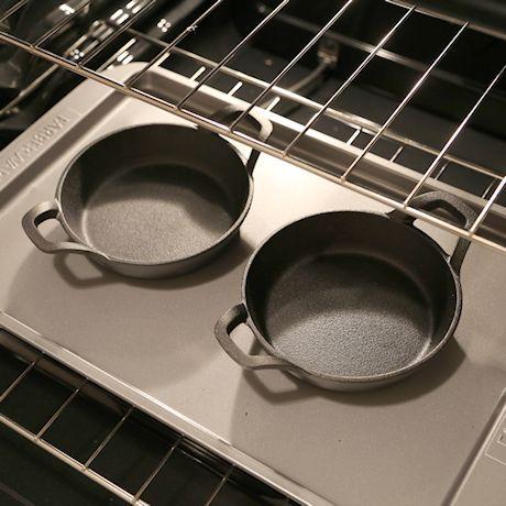 "Home District Cast Iron Ramekin Set Oven Safe Mini Skillets Bakeware Bowls Casserole Pots, 6.5"" x 1 1/2"", 12 oz"