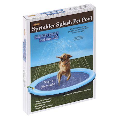 """ETNA Dog Splash Pad Sprinkler Pad Pool for Animals & Kids, 51"""" Dog Water Play Mat with Sprinkler"""
