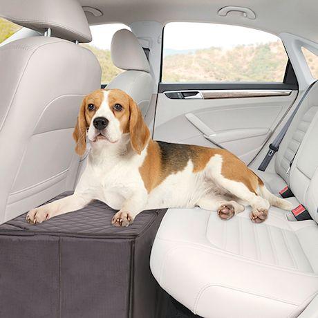 RobDog Car Back Seat Extender - Safer More Comfortable Back Seat Platform & Storage - Gray