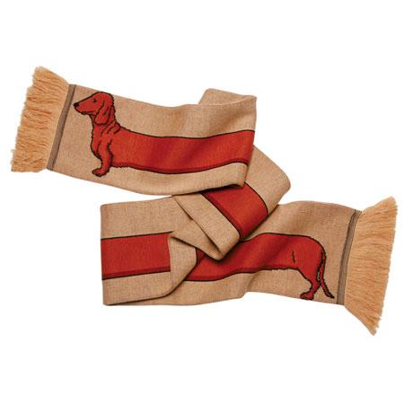Dachshund Knitted Acrylic Scarf