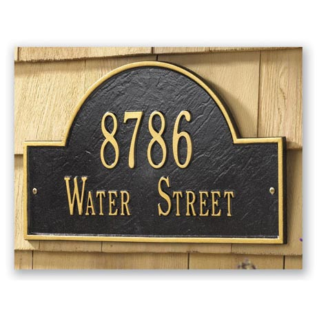 Personalized Address Plaque - Arched Wall Plaque