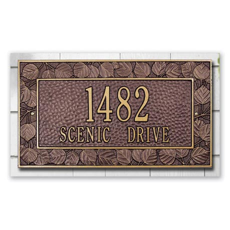 Personalized Address Plaque - Aspen Wall Plaque