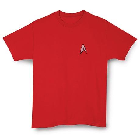 Personalized Star Trek Uniform Tee - Red Engineering