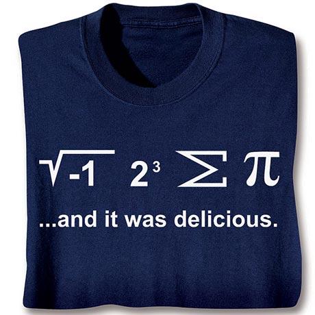 I Ate Some Pi Shirt with Math Equation