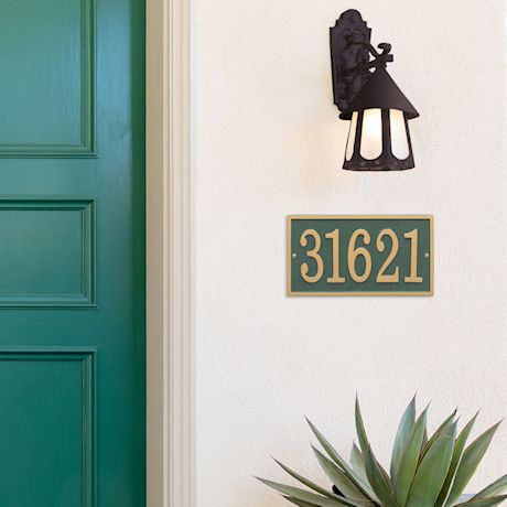 Personalized Rectangle House Number Plaque
