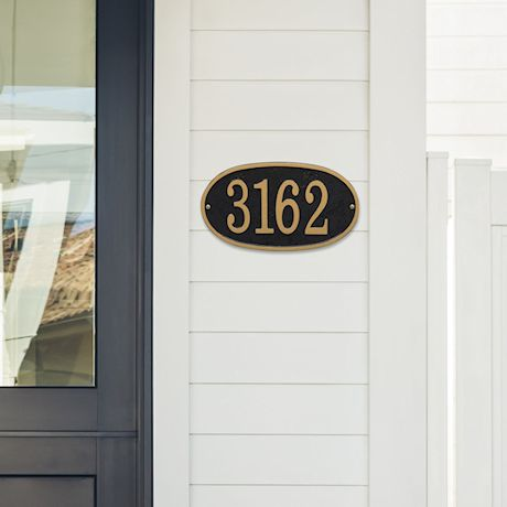 Personalized Oval House Number Plaque
