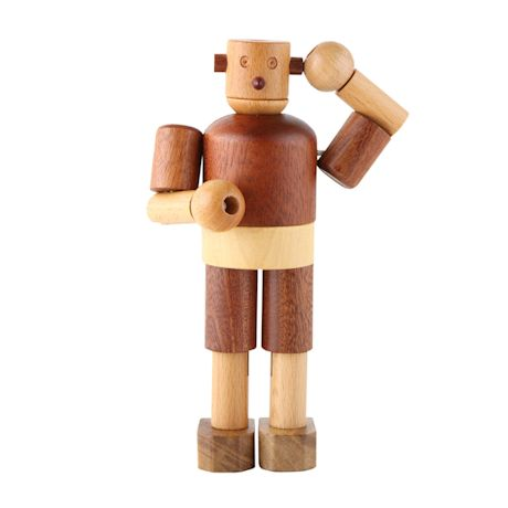 All Natural Wood Wooden Robot Toy