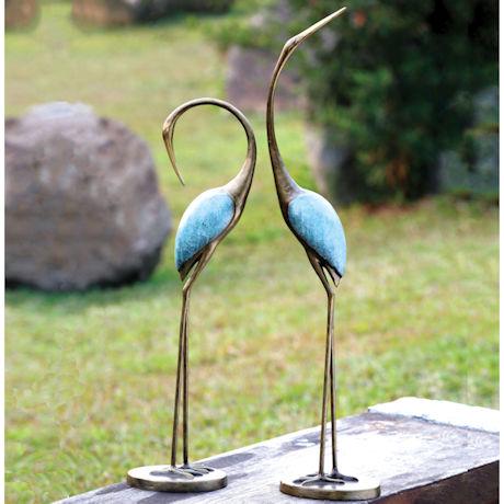 Garden Cranes Sculptures - Metal Yard Art