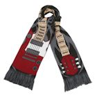 "What on Earth Unisex Unicorn Scarf - Extra Long Fun Print - Guitar, 70"" x 7 1/2"""