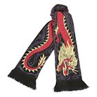 "What on Earth Unisex Unicorn Scarf - Extra Long Fun Print - Dragon, 76"" x 7 1/2"""