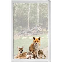 Woodland Animals Window Decal Cling - Fox & Friends Vinyl Sticker