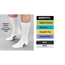 Wigwam® Diabetic Strider Unisex Wide Calf Theraputic Crew Socks