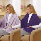 Fleece Shawl Kit Lavender And Purple