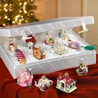 Glass Christmas and Metal Tree Set - 12 Old World Bride's Collection Ornaments