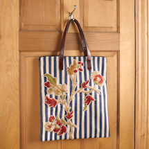 Striped Floral Tote