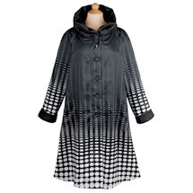 Optical Dots Reversible Raincoat
