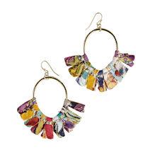 Kantha Fringe Earrings