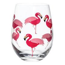 Birds Stemless Glass Set of 4 - Flamingos