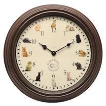 Cat Sounds Wall Clock