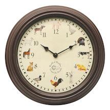 Farm Animal Sounds Wall Clock