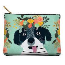 Fancy Floral Dog Zipper Pouches