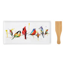 Little Birds Appetizer Tray and Spatula Set