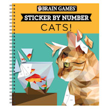 Sticker by Number Book - Cats