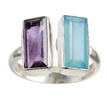Amethyst Baguettes Ring