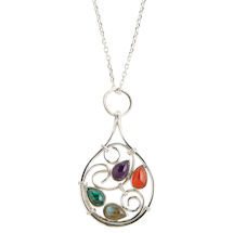 Baroque Swirl Necklace