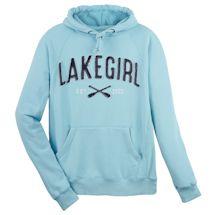 Lake Girl Hooded Sweatshirt - Aqua