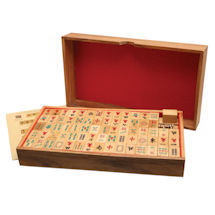 Wood Mahjong Set