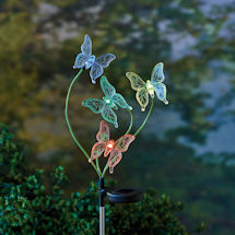 Color-Changing Solar Butterfly Garden Stake
