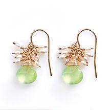 Aventurine and  Pearls Earrings