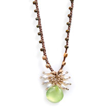 Aventurine and  Pearls Necklace