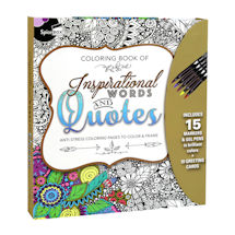 Inspirational Words & Quotes Coloring Kit