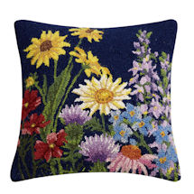 Hand-Hooked Wildflowers Pillow Style 2