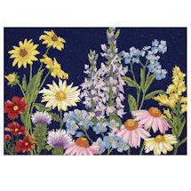 Hand-Hooked Wildflowers Rug